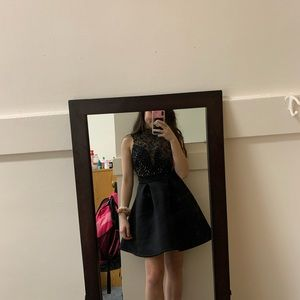 WINDSOR Black Mini Dress